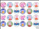 24 X PEPPA Rice Cake Toppers - Pig  1.6'' GREAT SIZE